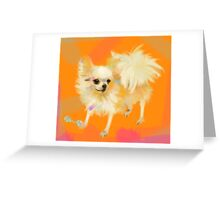 Dog Chihuahua Orange Greeting Card