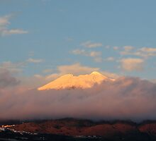 Teide covered in snow by Phil  Crean