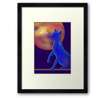 'Bast'  Cat Variations #1, Egyptian Framed Print