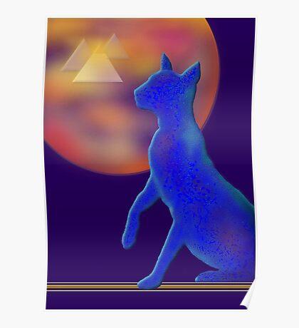 'Bast'  Cat Variations #1, Egyptian Poster