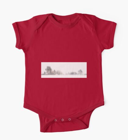 A Line of Trees in the Snow One Piece - Short Sleeve