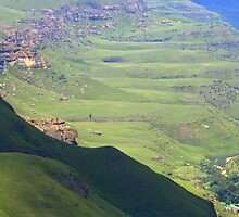 Green mountain - Leshoto by Corien