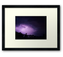 Lightning Strikes Twice Framed Print