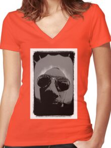 Lomofan Women's Fitted V-Neck T-Shirt