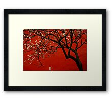 China Red  Framed Print