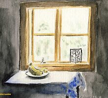 Sunshine on Windowpane by Caroline  Lembke