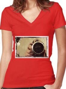 Lomofan 3 Women's Fitted V-Neck T-Shirt