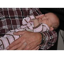 Asleep in Grandpa's Arms Photographic Print