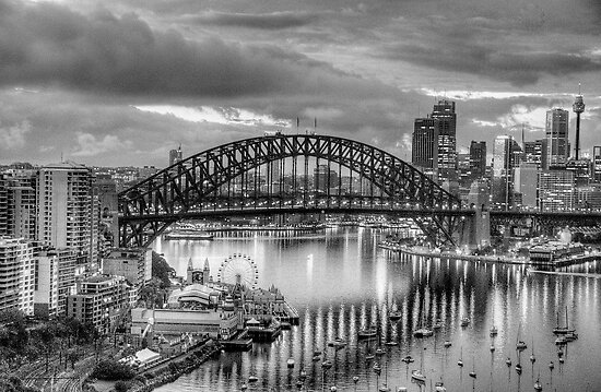 Monochrome - The City a Study In Black and White - The HDR Experience by Philip Johnson