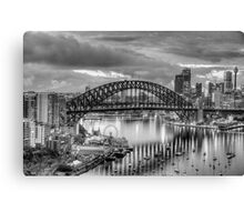 Monochrome - The City a Study In Black and White - The HDR Experience Canvas Print