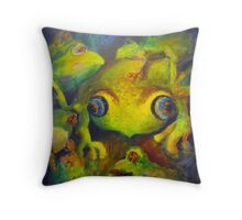 Lots of frogs Throw Pillow