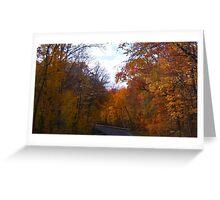 Autumn Drive Greeting Card
