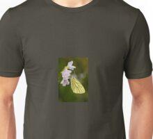 Green Veined White Butterfly on Cuckoo Flower Unisex T-Shirt