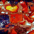 Sandstone and Silver Leaf Collage by Dana Roper