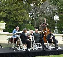 Musical Ensemble playing on the Lawn at  Gov. House. by EdsMum
