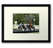 Musical Ensemble playing on the Lawn at  Gov. House. Framed Print