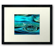 Blue Water Drop Crown Framed Print