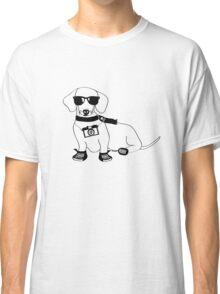 Hipster Dachshund - Cute Dog Cartoon Character - Sausage Dog - Weiner Dog Classic T-Shirt