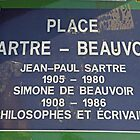 Sartre abd Beauvoir Residence Plaque by longaray2