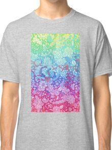 Fantasy Garden Rainbow Doodle Classic T-Shirt