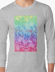 Fantasy Garden Rainbow Doodle Long Sleeve T-Shirt