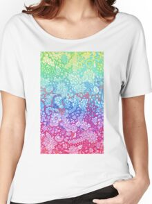 Fantasy Garden Rainbow Doodle Women's Relaxed Fit T-Shirt