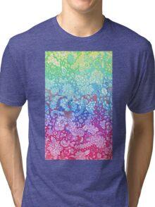 Fantasy Garden Rainbow Doodle Tri-blend T-Shirt