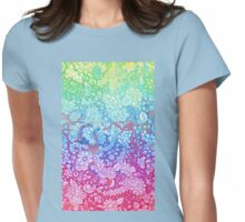 Fantasy Garden Rainbow Doodle Womens Fitted T-Shirt