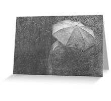 Raining again Greeting Card