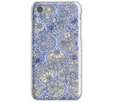 Moroccan Floral Lattice Arrangement - purple iPhone Case/Skin