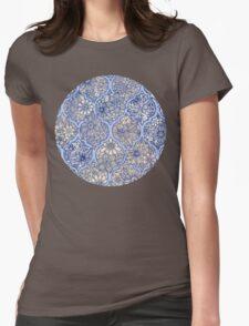 Moroccan Floral Lattice Arrangement - purple Womens Fitted T-Shirt