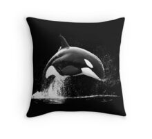 Black Series - Black Bow Throw Pillow
