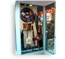 Northwest Tribal Art Shop...Open Metal Print