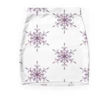 Purple Snowflake Mini Skirt