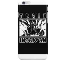 Train Insaiyan - White on dark iPhone Case/Skin