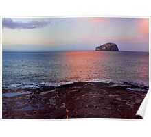 Sunset At Bass Rock Poster