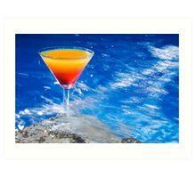 Poolside Cocktail Art Print