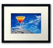 Poolside Cocktail Framed Print