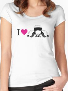 I love Bofur Women's Fitted Scoop T-Shirt