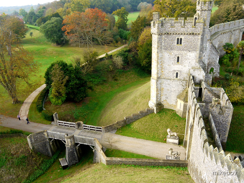 Arundel Castle Gateway & Moat by mikebov