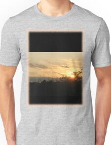 Sunset through the trees Unisex T-Shirt
