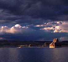 Lone Rock Sunset by Patrick O'Neill