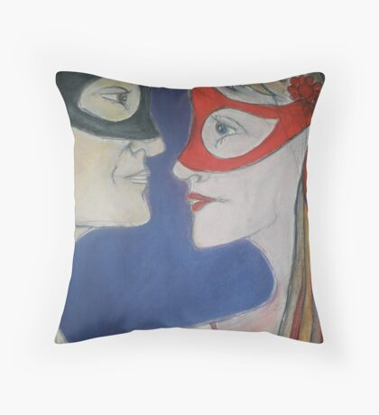 Masked Attraction Throw Pillow