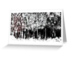 winter in forest Greeting Card