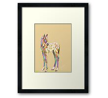 Foal paint Framed Print