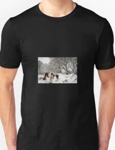 Horse in Snow Unisex T-Shirt
