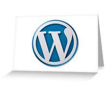 Wordpress Logo Greeting Card