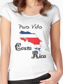 Costa Rica, Pura Vida Women's Fitted Scoop T-Shirt