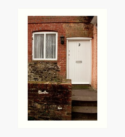 brick house door, surrey, uk Art Print