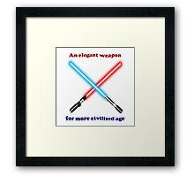 Lightsaber Civilized Framed Print